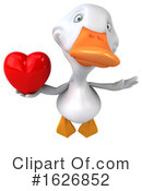 White Duck Clipart #1626852 by Julos