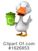 White Duck Clipart #1626853 by Julos