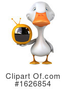 White Duck Clipart #1626854 by Julos
