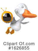 White Duck Clipart #1626855 by Julos