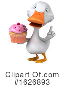 White Duck Clipart #1626893 by Julos