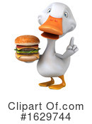 White Duck Clipart #1629744 by Julos
