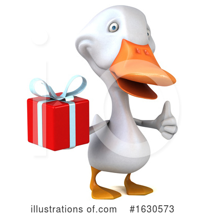 Royalty-Free (RF) White Duck Clipart Illustration by Julos - Stock Sample #1630573