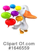 White Duck Clipart #1646559 by Julos