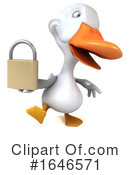 White Duck Clipart #1646571 by Julos
