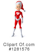 White Female Super Hero Santa Clipart #1281576