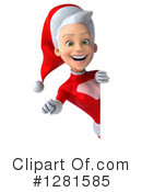 White Female Super Hero Santa Clipart #1281585 by Julos