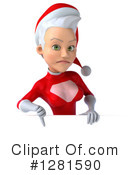 White Female Super Hero Santa Clipart #1281590 by Julos