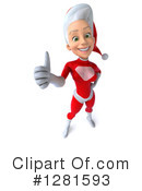 White Female Super Hero Santa Clipart #1281593 by Julos