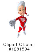White Female Super Hero Santa Clipart #1281594 by Julos