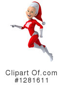 White Female Super Hero Santa Clipart #1281611 by Julos