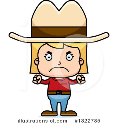 Cowgirl Clipart #1322785 by Cory Thoman