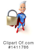 White Haired Blue And Red Super Hero Clipart #1411786 by Julos