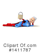 White Haired Blue And Red Super Hero Clipart #1411787 by Julos