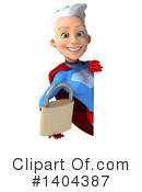 White Haired Female Super Hero Clipart #1404387 by Julos