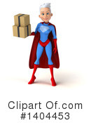 White Haired Female Super Hero Clipart #1404453 by Julos