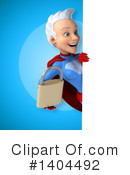 White Haired Female Super Hero Clipart #1404492 by Julos