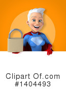 White Haired Female Super Hero Clipart #1404493 by Julos