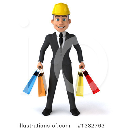 White Male Architect Clipart #1332763 by Julos