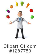 White Male Doctor Clipart #1287759 by Julos