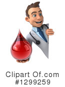 White Male Doctor Clipart #1299259 by Julos