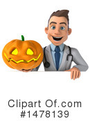 White Male Doctor Clipart #1478139 by Julos