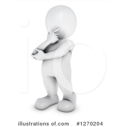 3d White Man Clipart #1270204 by KJ Pargeter