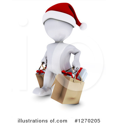 Christmas Shopping Clipart #1270205 by KJ Pargeter