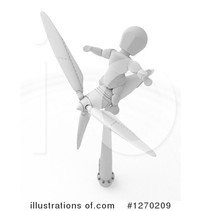 Wind Turbine Clipart #1270209 by KJ Pargeter