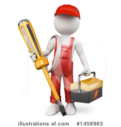 Electrician Clipart #1458963 by Texelart