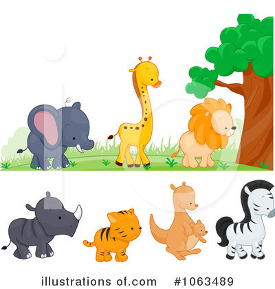 Royalty-Free (RF) Wild Animals Clipart Illustration by BNP Design Studio - Stock Sample #1063489