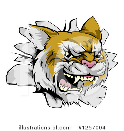Cougar Clipart #1257004 by AtStockIllustration