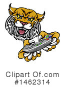 Royalty-Free (RF) Wildcat Clipart Illustration #1462314