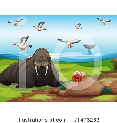 Walrus Clipart #1473283 by Graphics RF