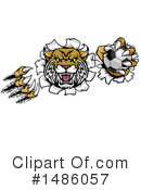 Royalty-Free (RF) Wildcat Clipart Illustration #1486057