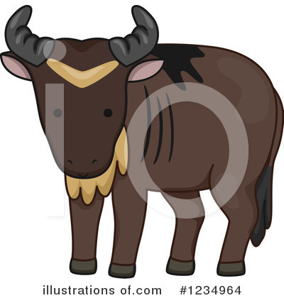 Wildebeest Clipart #1234964 by BNP Design Studio