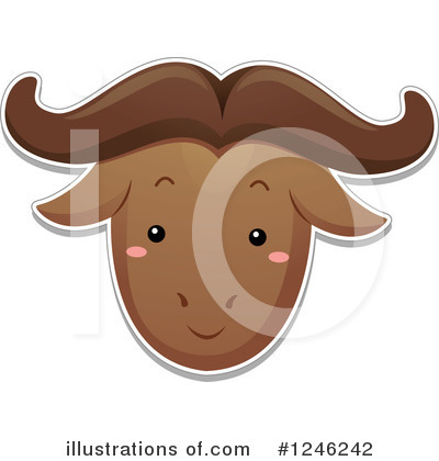 Wildebeest Clipart #1246242 by BNP Design Studio