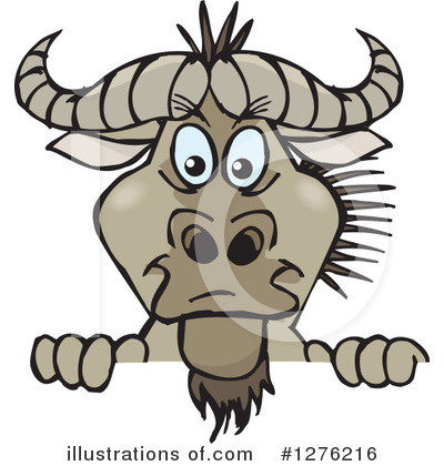 Royalty-Free (RF) Wildebeest Clipart Illustration by Dennis Holmes Designs - Stock Sample #1276216