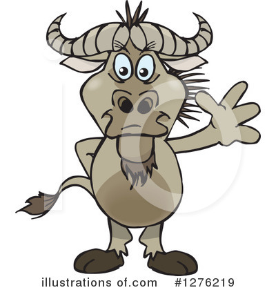 Wildebeest Clipart #1276219 by Dennis Holmes Designs