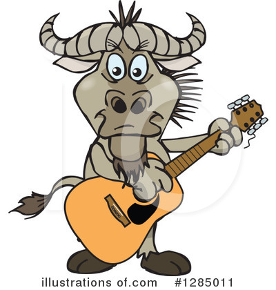 Wildebeest Clipart #1285011 by Dennis Holmes Designs