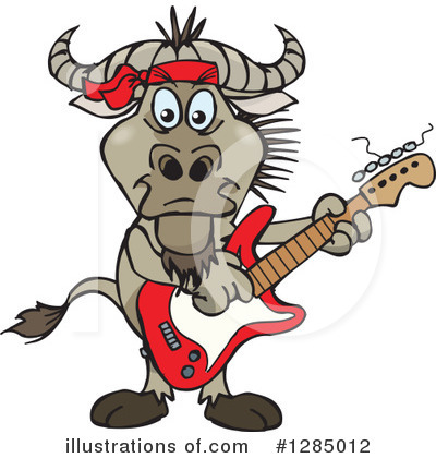 Wildebeest Clipart #1285012 by Dennis Holmes Designs