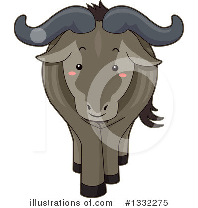 Wildebeest Clipart #1332275 by BNP Design Studio