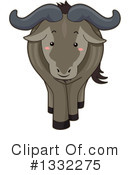 Royalty-Free (RF) Wildebeest Clipart Illustration #1332275