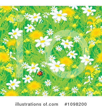 Wildflowers Clipart #1098200 by Alex Bannykh