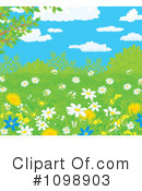 Royalty-Free (RF) Wildflowers Clipart Illustration #1098903