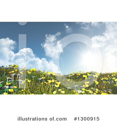 Daisies Clipart #1300915 by KJ Pargeter