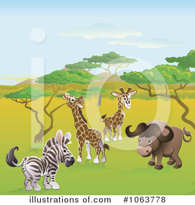 Zebra Clipart #1063778 by AtStockIllustration
