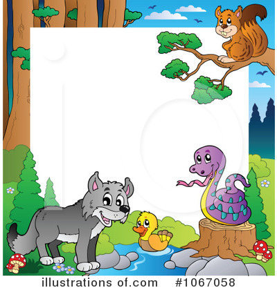 Royalty-Free (RF) Wildlife Clipart Illustration by visekart - Stock Sample #1067058