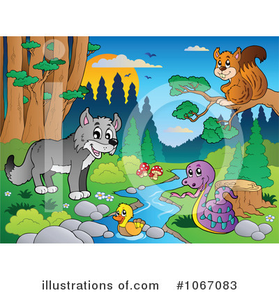 Wolf Clipart #1067083 by visekart