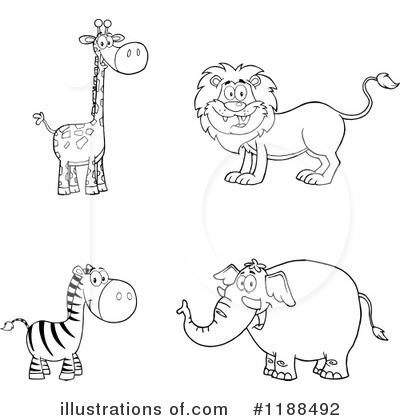 Royalty-Free (RF) Wildlife Clipart Illustration by Hit Toon - Stock Sample #1188492